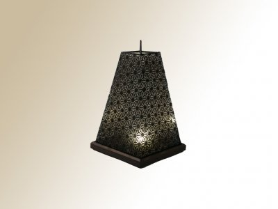 Lampe FORES LED pyramide noire LS-112
