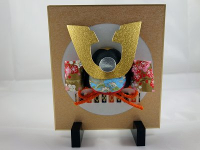 Mini casque samouraï papier washi tuitate