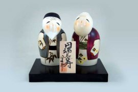 Kokeshi couple Enmanchoju