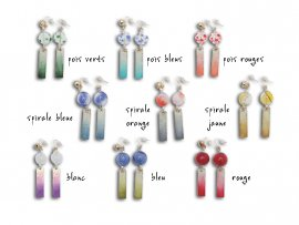 Boucles d'oreille style furin